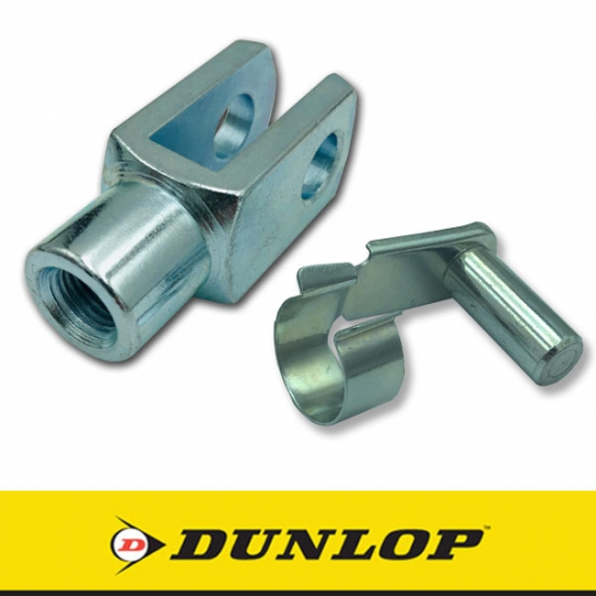 GM10x1.25 Dunlop Right Hand Thread Steel Clevis 10mm Bore M10x1.25 Thread Assembly