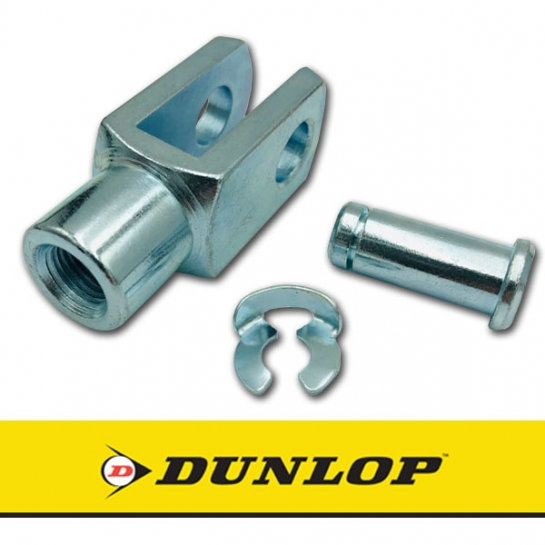 GM8x1.25 Dunlop Right Hand Thread Steel Clevis 8mm Bore M8x1.25 Thread Assembly