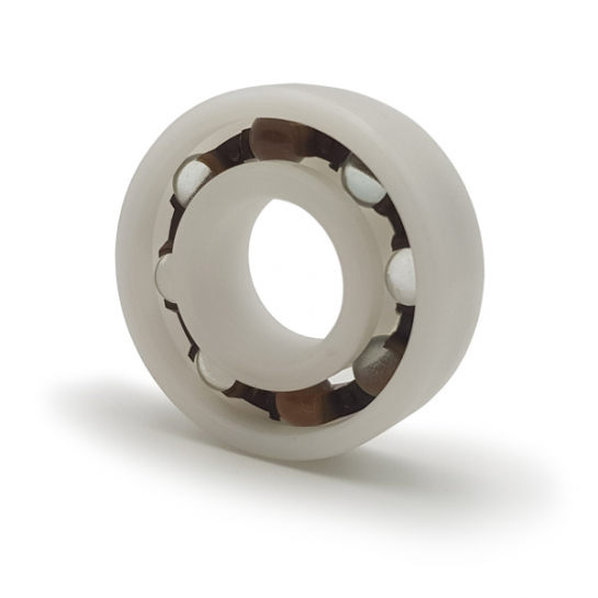 P6009-GB Plastic Open Deep Groove Ball Bearing with Glass Balls 45x75x16mm