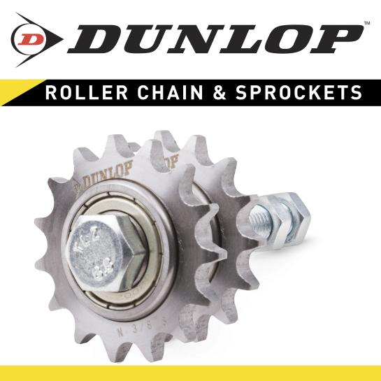 N1/2-10D Dunlop Tensioner Idler Sprocket for Duplex Chain Drives