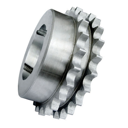 "62-27 (12B2-27) 3/4"" Pitch Steel Taper Lock Duplex Sprocket"
