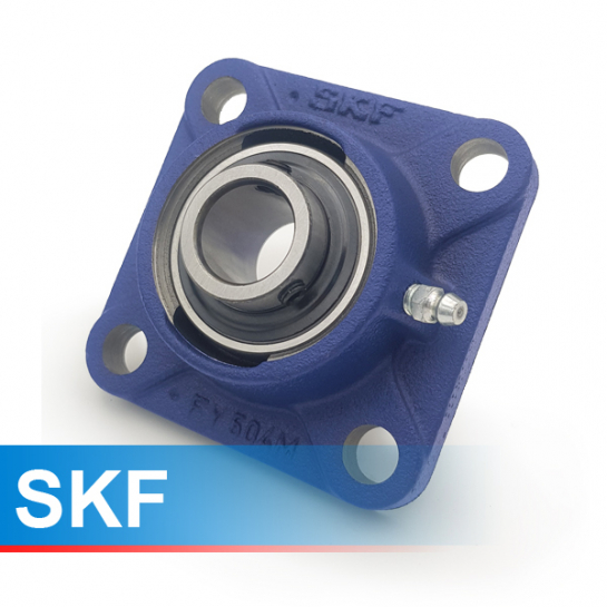 FY12TF SKF Self Lube 4 Bolt Flange Unit 12mm Shaft