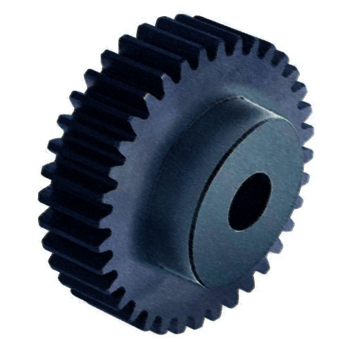 PS10/21B 1 mod 21 tooth Metric Pitch Plastic Spur Gear (30% glass filled nylon6) with Boss