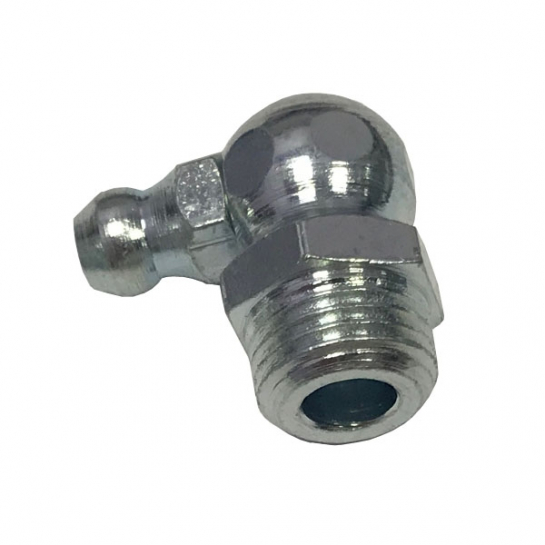 M8x1 Mild Steel Zinc Plated 90° Hydraulic Grease Nipple