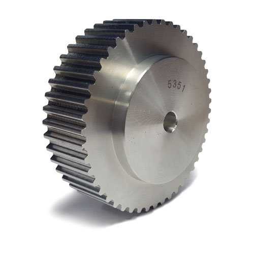 """80-XH-400 Pilot Bore Imperial Timing Pulley, 80 Teeth, 7/8"""" Pitch, For A 4"""" Wide Belt"""