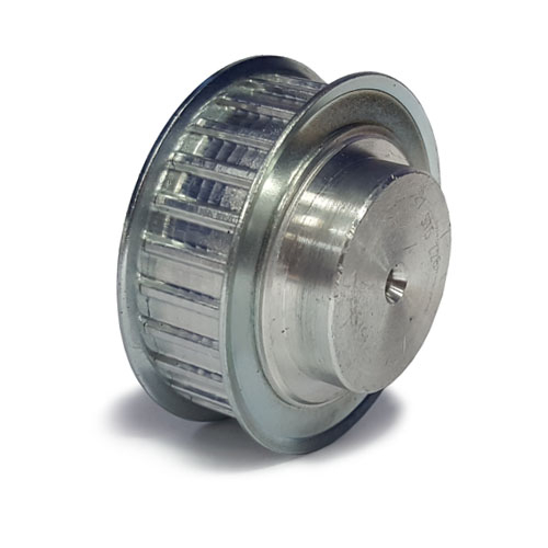 AL16T2.5/28-2 T2.5 Aluminium pulley for a 6mm wide belt