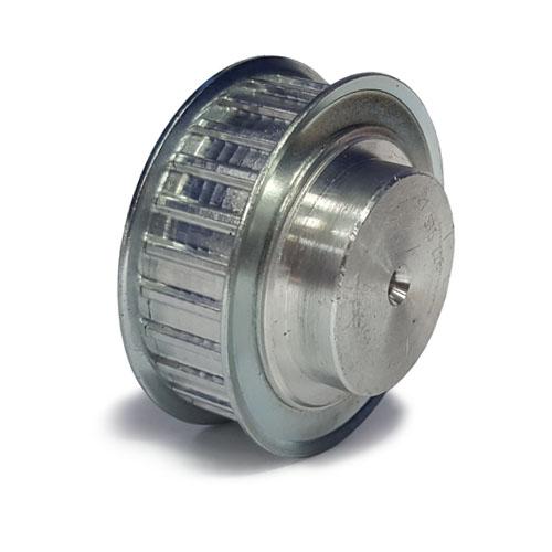 AL31T10/19-2 T10 Aluminium pulley for a 16mm wide belt