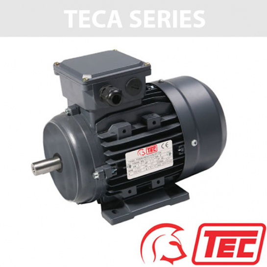 TEC IE2 Rated 3 Phase 1.1kw 2850rpm (2Pole) D80 (802-2) Frame B3 Foot Mounted Electric Motor