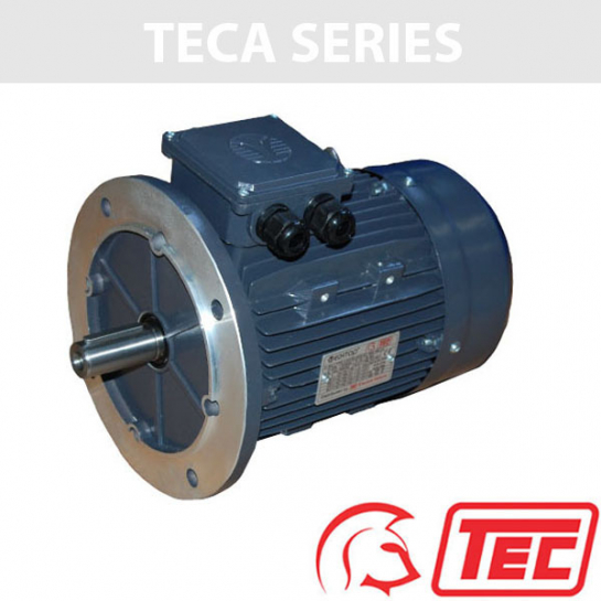 TEC IE2 Rated 3 Phase 1.1kw 2850rpm (2Pole) D80 (802-2) Frame B5 Flange Mounted Electric Motor