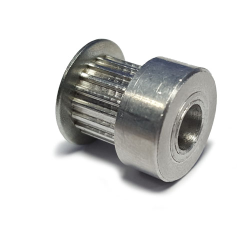 AL16T2.5/16-2 T2.5 Aluminium pulley for a 6mm wide belt