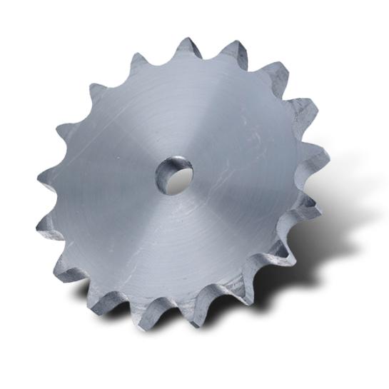 "8SR40PW (P16B1-40) 1"" Pitch Steel Pilot Bore Simplex Platewheel with 40 Teeth"