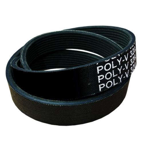 "7 PJ330 (130J7 ) Poly V Belt, J Section With 7 Ribs - 330mm/13.0"" Length"