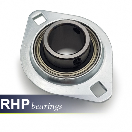 SLFL17 RHP Self-Lube 2 Bolt Pressed Steel Flange Unit Bearing 17mm Shaft