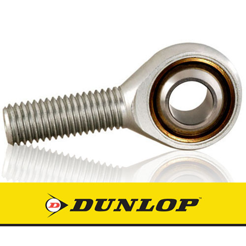 MB-M06 DUNLOP Right Hand Thread Male Steel Rod End 6mm Bore M6x1 Thread
