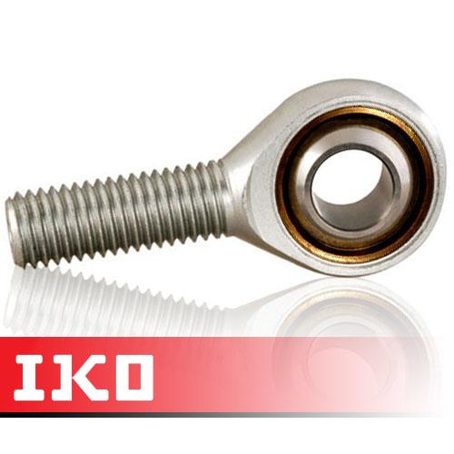 POS12L IKO Left Hand Thread Male Steel Rod End 12mm Bore M12x1.75 Thread