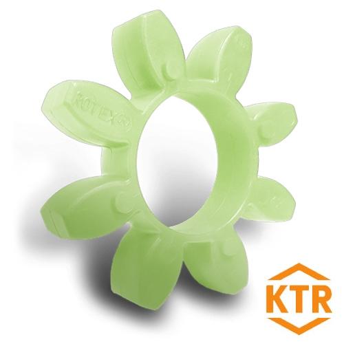 KTR Rotex75 GREEN Polyurethane Spider Element - 64sh-D