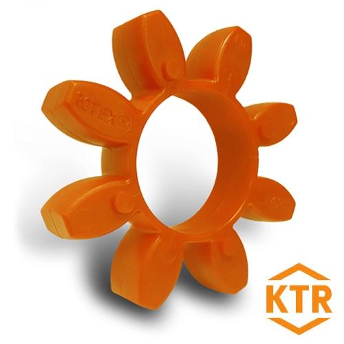 KTR Rotex19 Orange Polyurethane Spider Element - 92sh-A