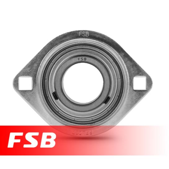 """SBPFL201-8 Pressed Steel Oval Flange Unit 1/2"""" shaft"""