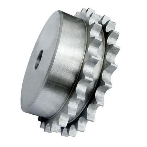 "5DR11 (10B2-11) 5/8"" Pitch Steel Pilot Bore Duplex Sprocket"