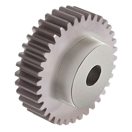 SS40/75B 4 mod 75 tooth Metric Pitch Steel Spur Gear with Boss