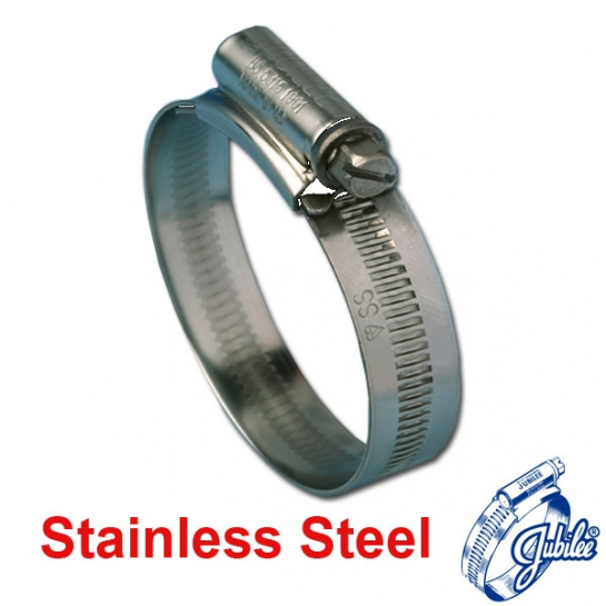 Jubilee Hose Clip Size 0XSS 304 Stainless Steel (18-25mm)