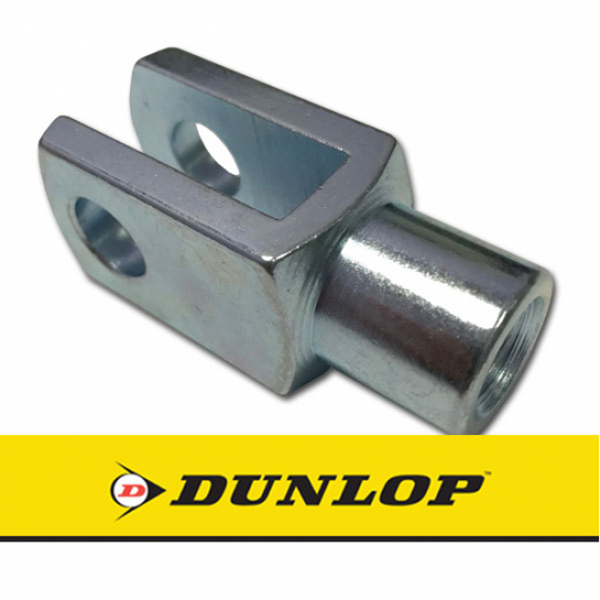 GM10Cx1.25LH Dunlop Left Hand Thread Steel Clevis 10mm Bore M10x1.25 Thread