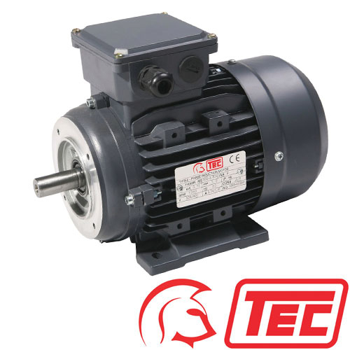 TEC IE2 Rated 3 Phase 1.1kw 2850rpm (2Pole) D80 (802-2) Frame B34 Foot & Face Mounted Electric Motor