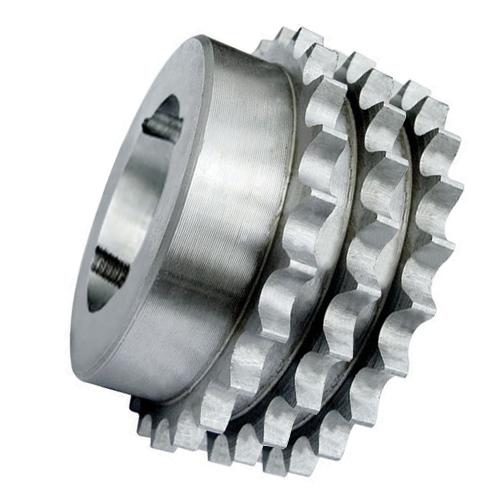"""63-76 (12B3-76) 3/4"""" Pitch Cast Iron Taper Lock Triplex Sprocket"""