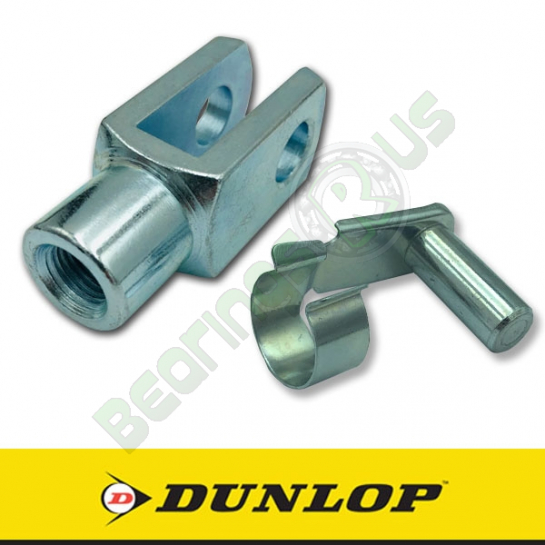 GM6x1.0 Dunlop Right Hand Thread Steel Clevis 6mm Bore M6x1.0 Thread Assembly