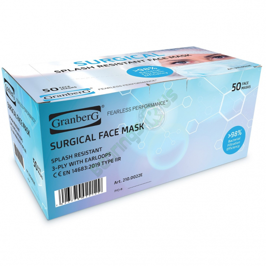 Granberg Surgical Face Mask - 50 Pack