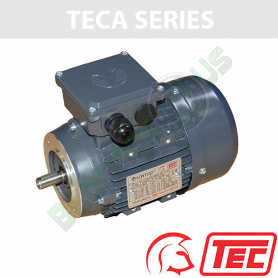 TEC IE2 Rated 3 Phase 7.5kw 2910rpm (2Pole) D132S2 Frame B14 Flange Mounted Electric Motor
