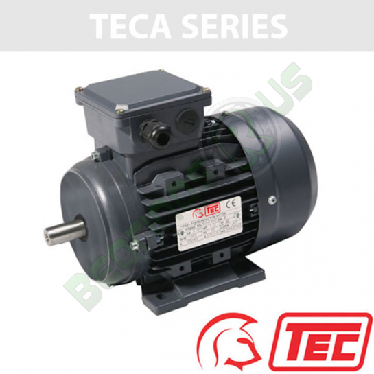 TEC IE2 Rated 3 Phase 0.55kw 1380rpm (4Pole) D71 Frame B3 Foot Mounted Electric Motor
