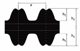 4410-14M-85 Timing Belt Cross Section