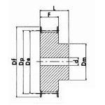 Metric Timing Belt Pulley Diagram