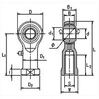 Female Rod End Diagram