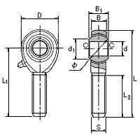 Male Rod End Diagram