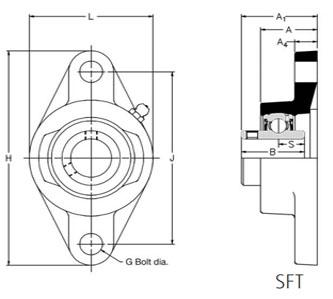 RHP SFT20 Self Lube Bearing 20mm