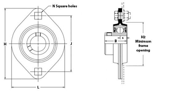 RHP SLFL17 Self Lube Bearing 17mm