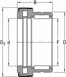 NKXR 20 Z SKF Needle Roller + Cylindrical Roller Thrust Bearing 20x30x30 (mm)