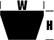 CX90 Premium Cogged (CRE) CX Section V Belt width=107