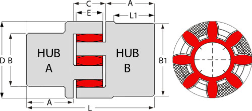 JCA28/38 Hub Diagram