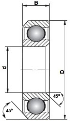 40x52x8mm 45//45deg ACB4545-40C Bike Headset Bearing