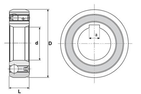 CSK8P Clutch Bearing 8x22x9 (mm)