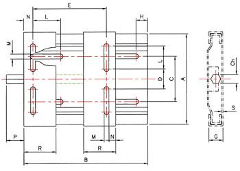 SM160/180 TEC Motor Base
